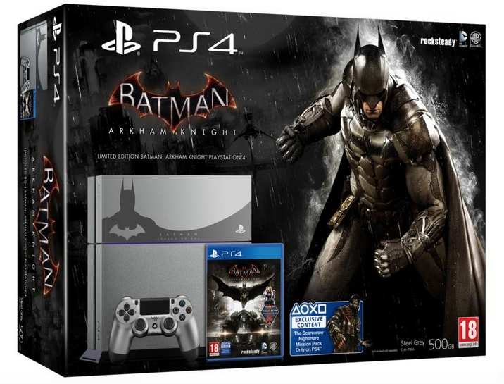 PS4 Steel Grey Batman Arkham Knight