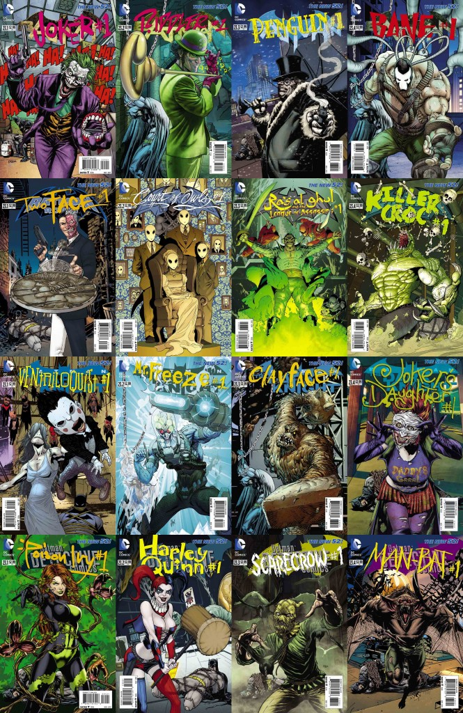 Villains Month Covers Batman