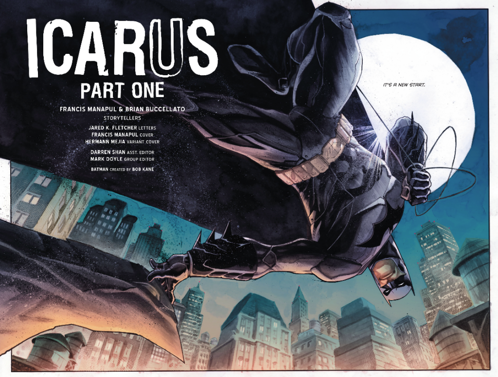 Batman Detective Comics Icare Icarus New Start