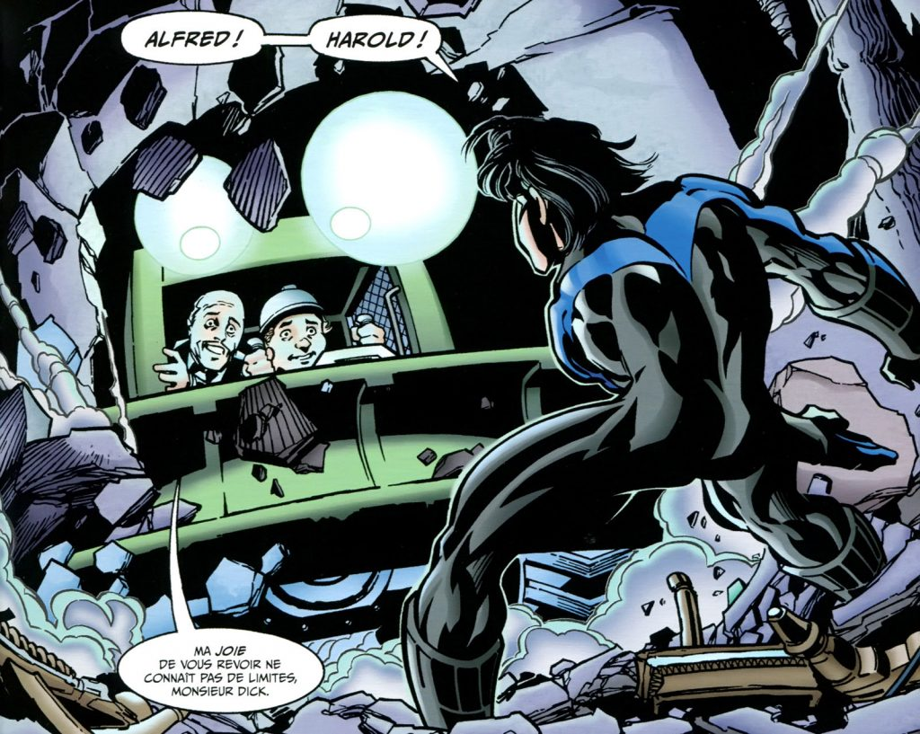 Batman Cataclysme Nightwing Harold Alfred
