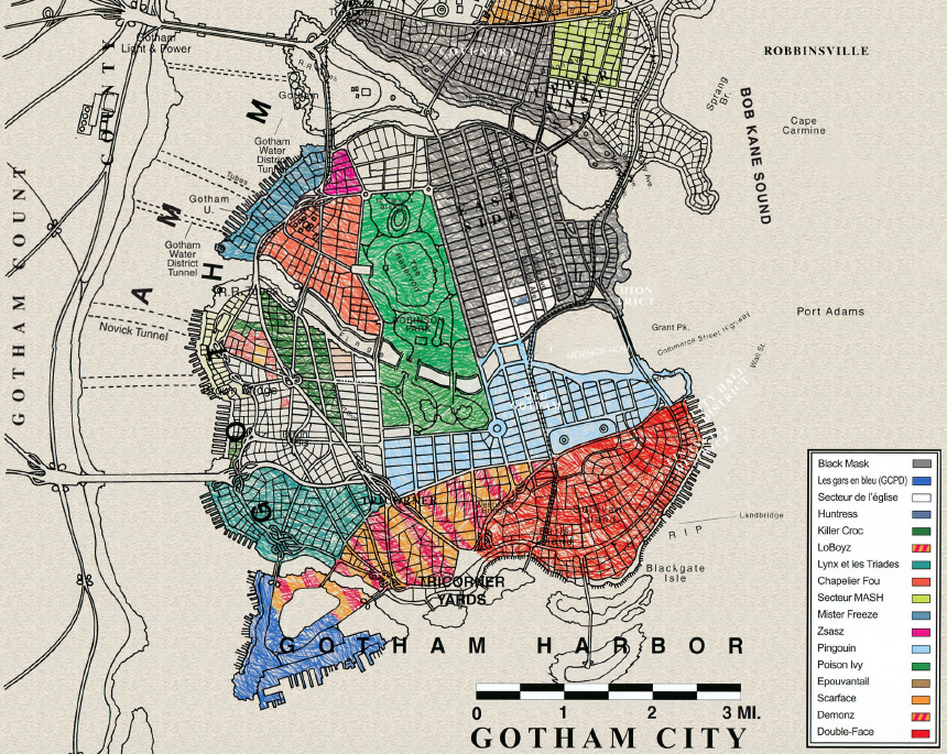 Batman No Mans Land Map Carte