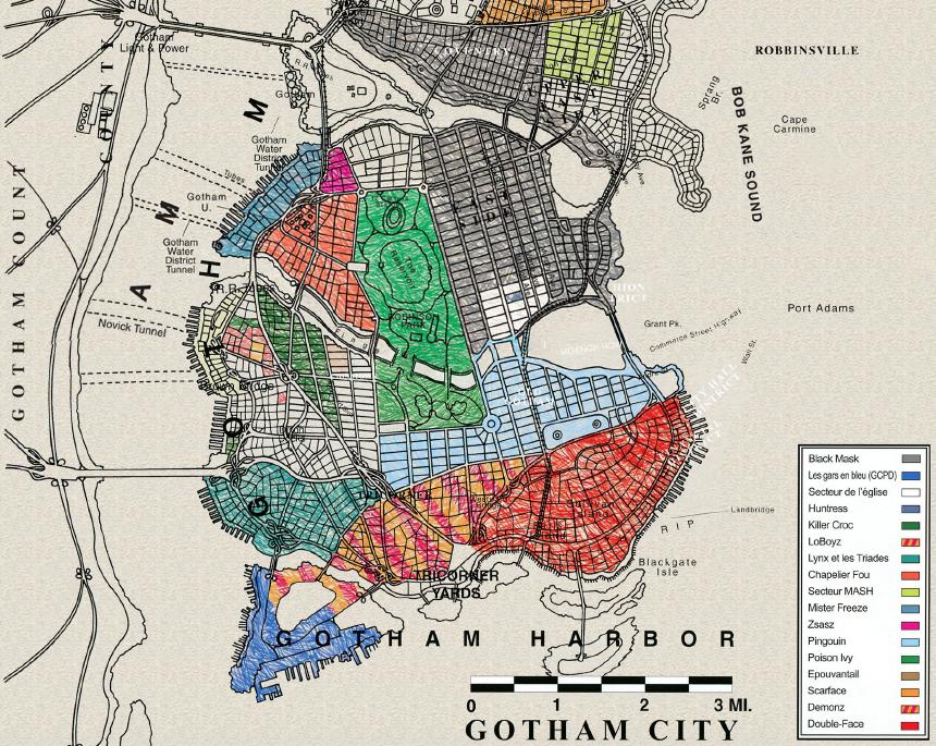 Batman No Mans Land Map Carte