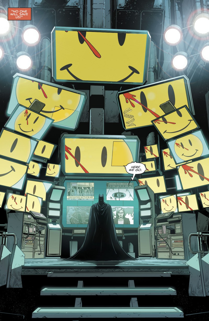Batman Le Badge The Button Smile Smiley Watchmen
